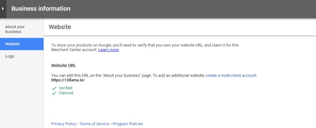 Verifying Website