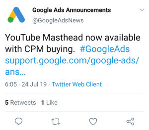 youtube masthead on cpm